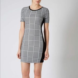 TOPSHOP | Gingham Bodycon Tunic Dress Size 4 (A)
